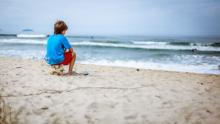 Boy on beach